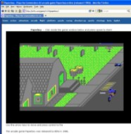 C64 version of Paperboy in Firefox