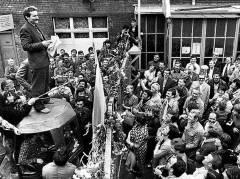 Gdansk, elokuu 1980. Satamaty�l�isten lakko ja Lech Wałęsa.